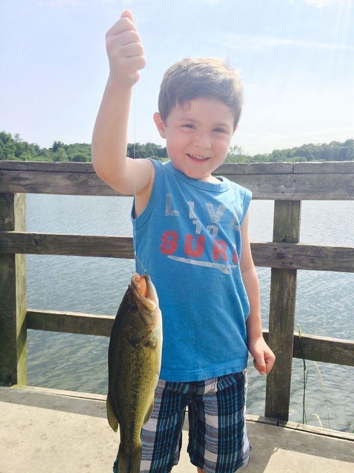 Fishing at Lake Logan